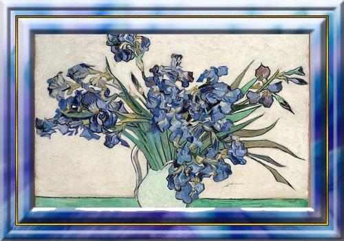 """Dessin et peinture - vidéo 3344 - Comment reproduire la palette de couleurs de Vincent van Gogh pour """"les iris"""" (1890) ? 2/2 - huile ou acrylique."""
