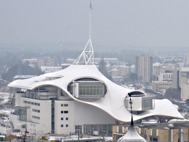 Le Centre Pompidou Metz chantier janvier 10 10 01 2010