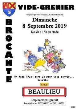 Vide Grenier et Expo Photos Beaulieu Autrefois.08.09.2019