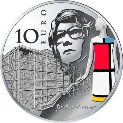 UNE PIECE DE 10.00 € ARGENT YVES SAINT- LAURENT