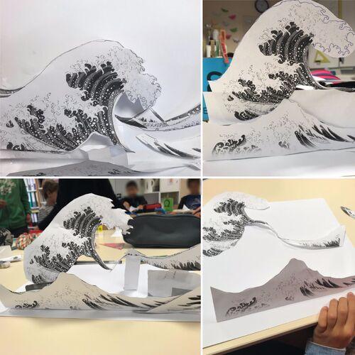 La grande vague de Kanagawa par Katsushika Hokusai