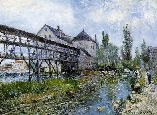 Alfred Sisley, Le moulin à Moret