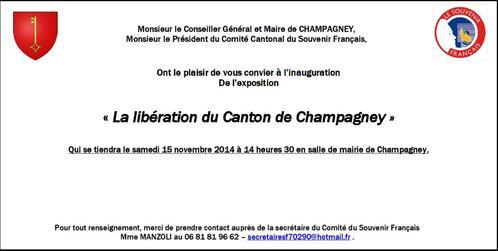 * 15 novembre 2014 : Exposition :La Libération du canton de Champagney