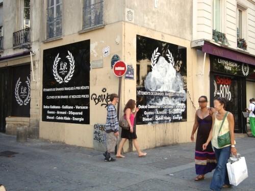 Street-art Quincampoix publicité