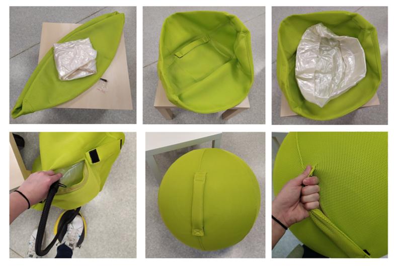 Notre nouveau ballon d'assise : La balle Céleste