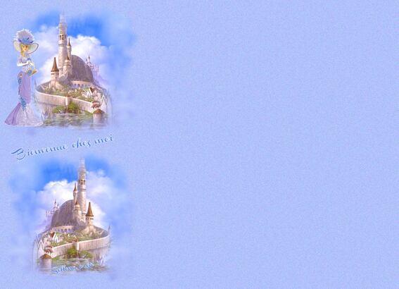 Papier **Chateau de  contes de fées*