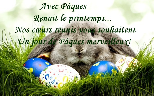 - Joyeuses Pâques.