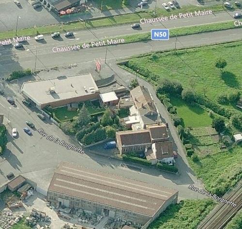 Tournai - vue aérienne du temple de la rue de la Borgnette