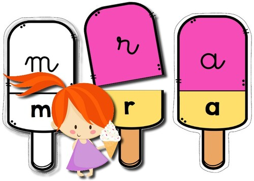 Glaces Alphabet - Puzzles d´association