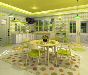 Jouer à Fruit kitchens 8 - Kiwi green