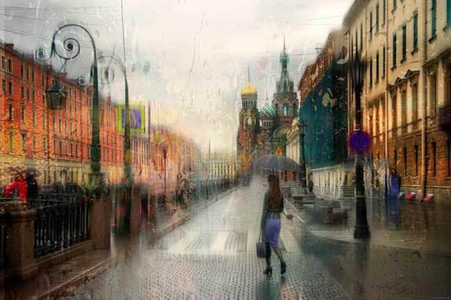 eduard gordeev photographies urbaines peinture style 7 - Ces Photos Urbaines sous la Pluie Ressemblent à des Peintures