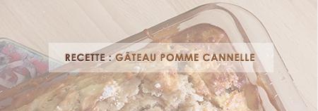 Un délicieux gâteau Pomme-Cannelle !