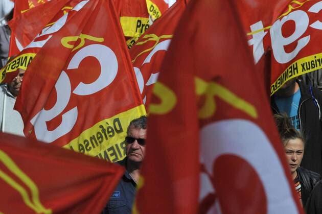 Des manifestants sous les drapeaux de la CGT. (Photo d'illustration)