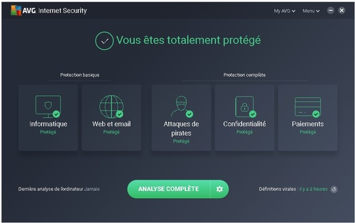 Avg Internet Security 2018 - Licence 1 an gratuit
