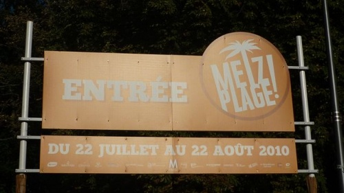 Metz plage : c'est jusqu'à demain (21 août 2010)