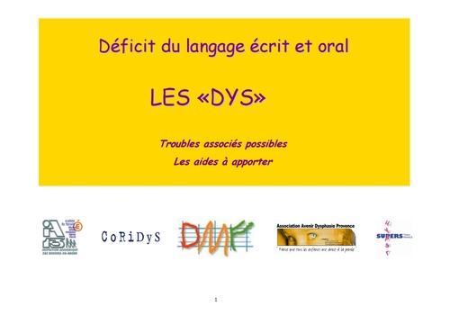 Super diaporama parlant des DYS et TDAH