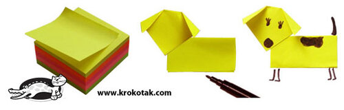 Pliages de post-it