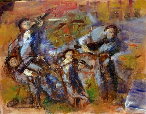 Quatuor Headlands, une très belle toile de Michèle Chassat