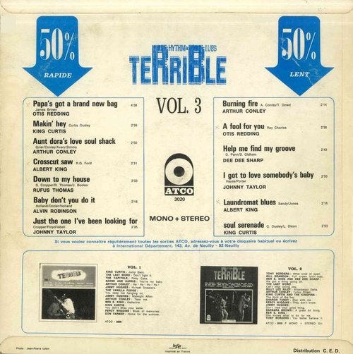 "Série "" Terrible Rhythm & Blues Vol 3 "" Atco Records ATCO-3020 [ FR ]"