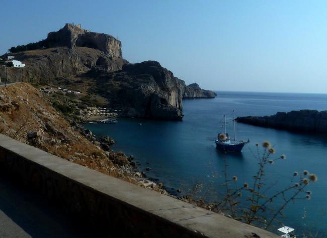 La forteresse de Lindos à Rhodes