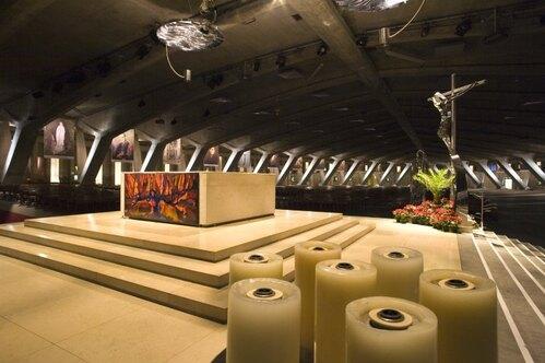 Lourdes : La basilique Saint-Pie X