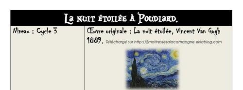 La nuit étoilée à Poudlard.
