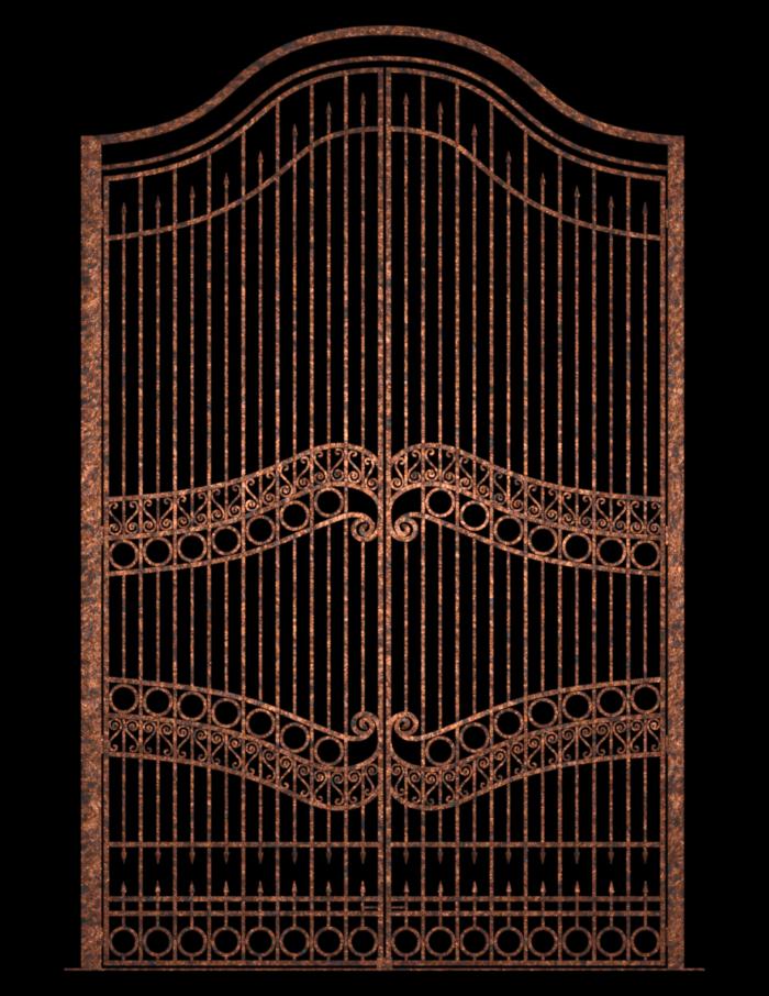 Tube de portail en fer (image-render)