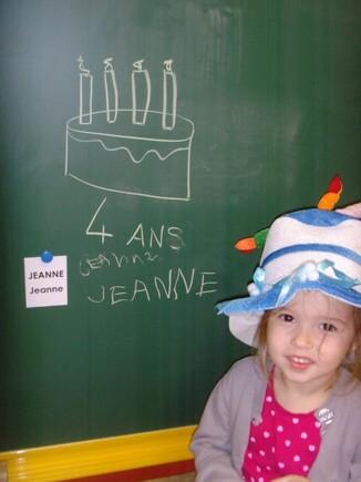 Anniversaire de Jeanne