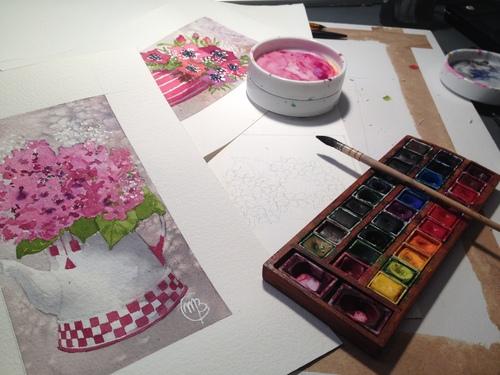 la peinture à l'huile c'est difficile et la peinture à l'eau c'est rigolo !
