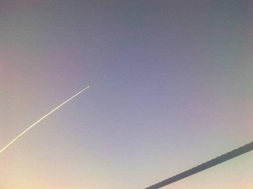 Un tir de missile au large du Finistère vu depuis un bateau de pêche, en 2010.