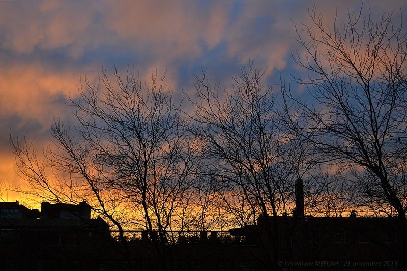 Coucher de soleil à Paris (19ème)