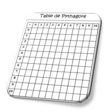 Jeux math matiques et multiplication dix mois - Table de pythagore vierge ...