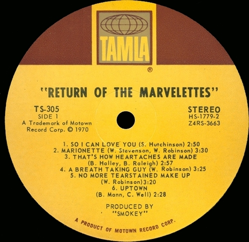 "The Marvelettes : Album "" The Return Of The Marvelettes "" Tamla Records TS 305 [ US ]"