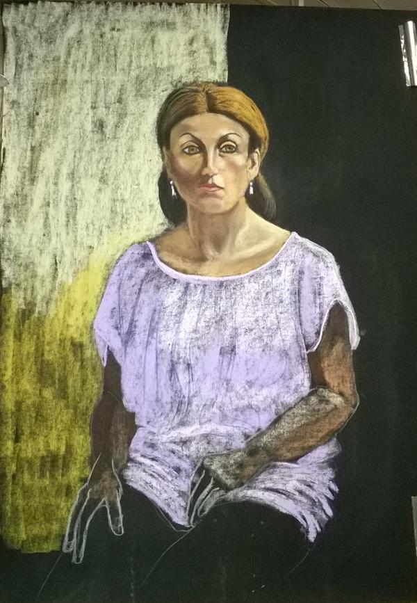 Dimanche - En cours : Portrait de femme