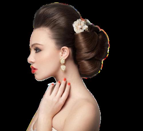 Femme coiffure