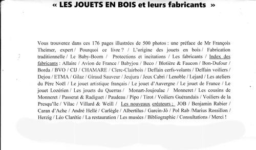 0L280 LES JOUETS EN BOIS et leurs fabricants