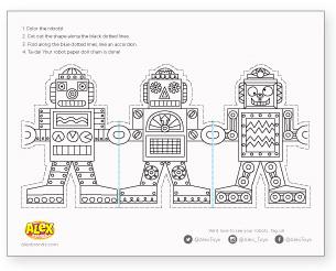 robot, coloriage, GS, CP, CE1, CE2