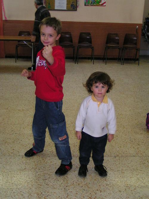 A l'entrainement de la danse