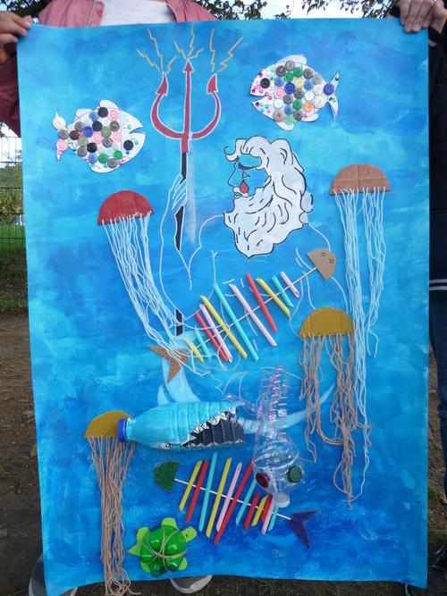 """Fresque """"Agir pour la défense de l'environnement marin"""""""