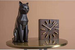 Present Time - Statue Chat Noir Assis Origami: Amazon.fr: Cuisine & Maison