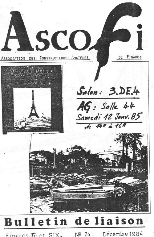 Couverture du bulletin de liaison ASCOFI de Décembre 1984