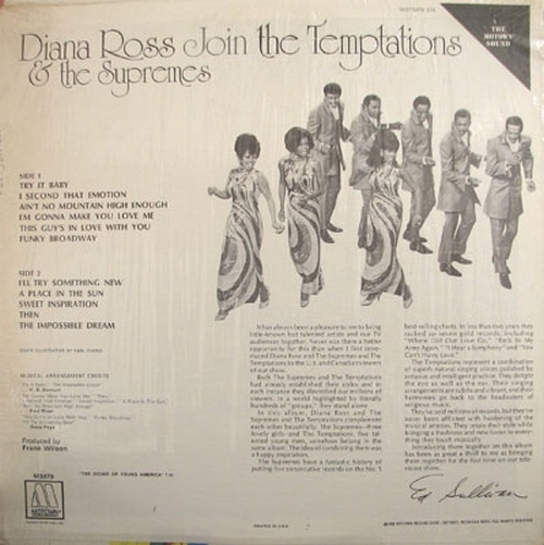 "Diana Ross & The Supremes & The Temptations : Album "" Diana Ross & The Supremes Join The Temptations "" Motown ‎Records MS 679 [ US ]"