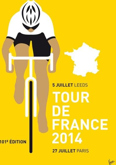 Le tour de France à bicyclette