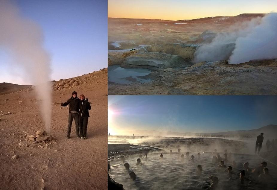 fumerolles, geysers et aguas termales