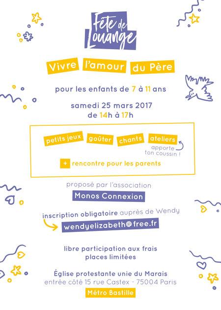 Fête de Louange - 25 Mars 2017