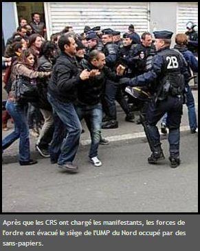 Lille : occupation du local de l'UMP par une centaine de sans-papiers