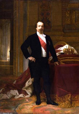 L empereur Napoléon III, huile sur toile de Alexandre Cabanel (1823-1889, France)
