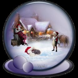 Boule de Noël pour Serpinette
