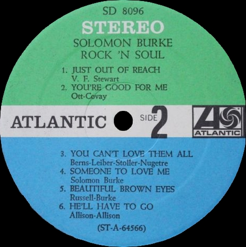 "Solomon Burke : Album "" Rock 'N Soul "" Atlantic Records SD 8096 [ US ]"