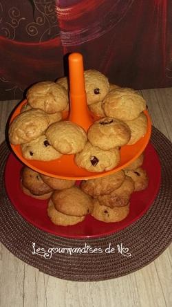 cookies chocolat blanc, coco, cranberries